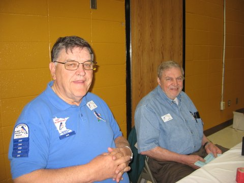 Raffle Table  : Larry Buhr and Carl Mortenson